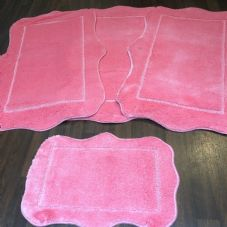 ROMANY WASHABLE TRAVELLERS MATS SET NON SLIP SUPER THICK RUG PINK GYPSY MATS